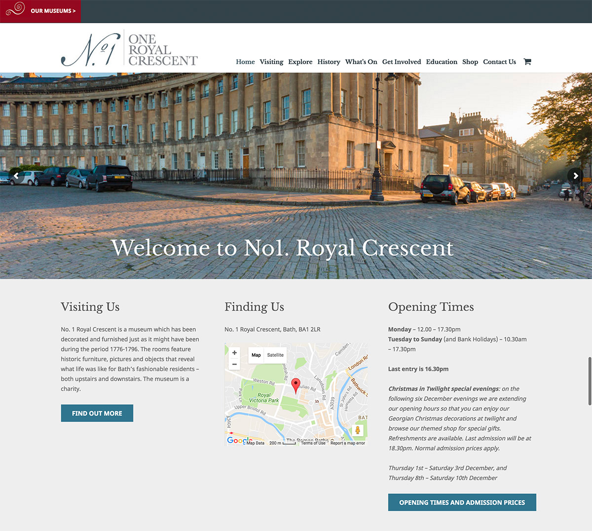 No. 1 Royal Crescent and Bath Preservation Trust
