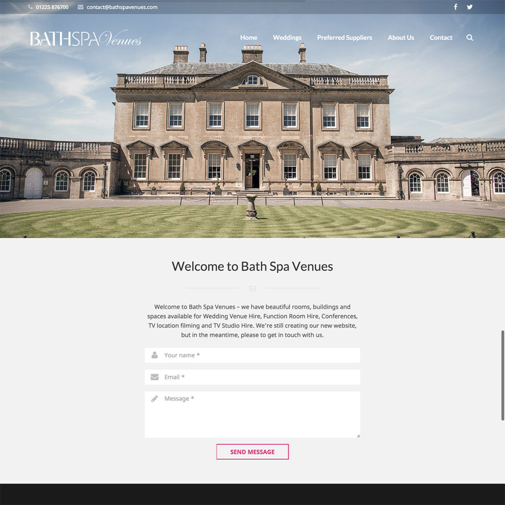 Webdesign for Bath Spa University