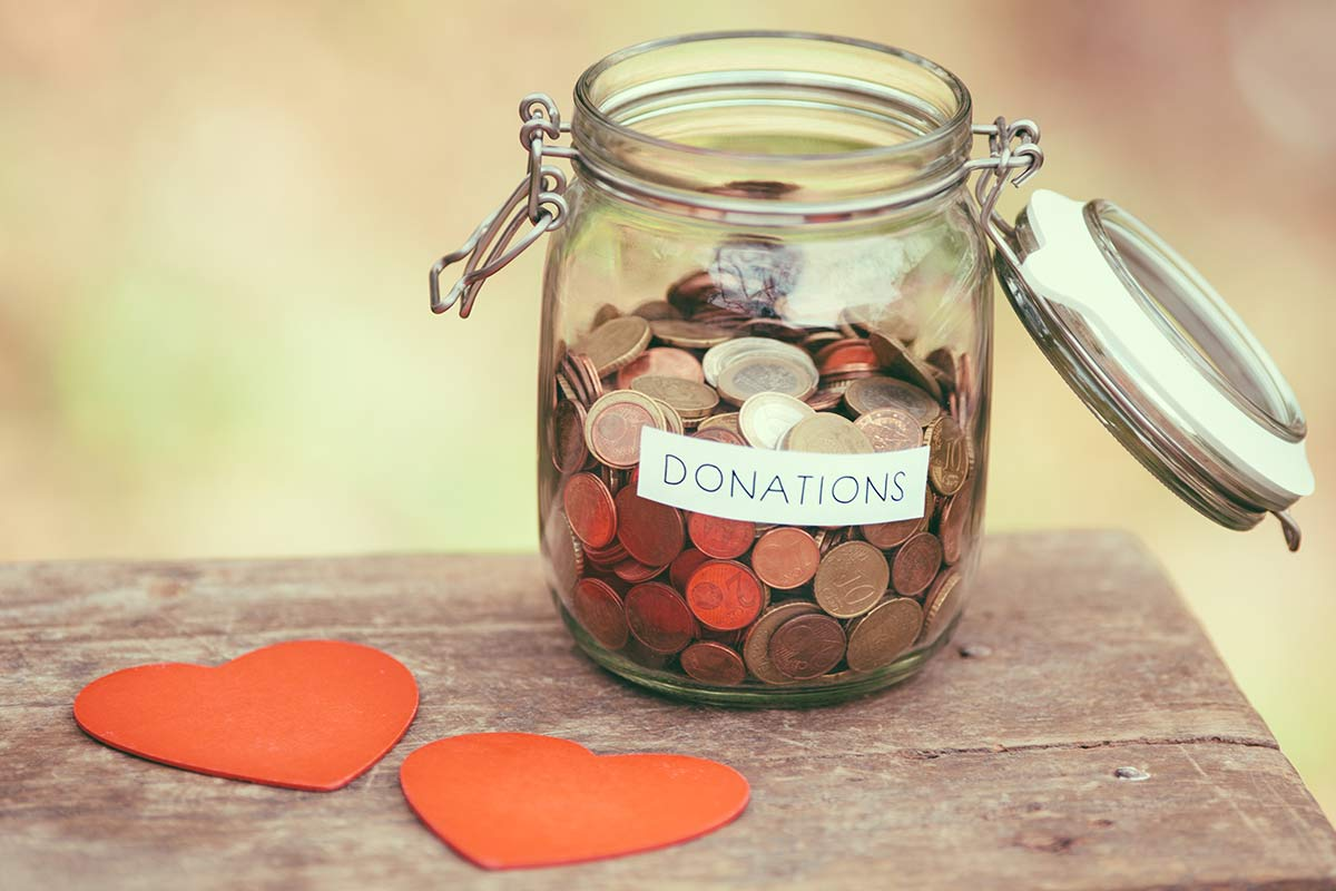 Fundraising through donations on the web