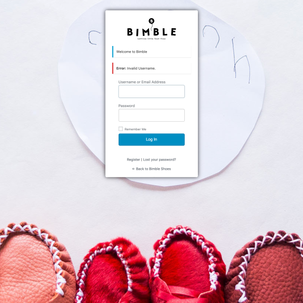 Bimble - Login