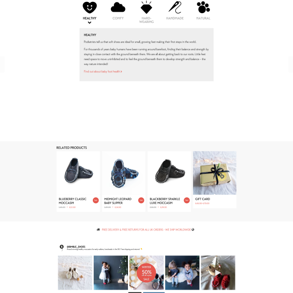 Bimble - Product Page