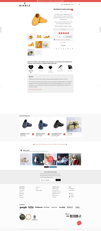 Bimble - Product Page