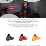 Bimble Shoes Web Design