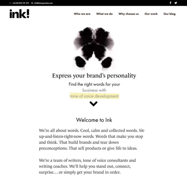 Ink's website